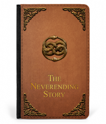 The NeverEnding Story Book Cover Design Faux Leather Passport Protector